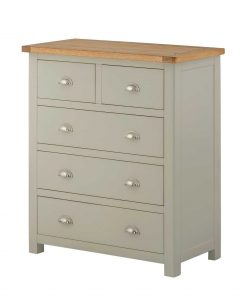 Classic Portland Painted Stone 2 over 3 Chest