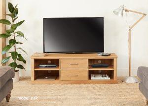 Baumhaus Mobel Oak Mounted Widescreen TV Cabinet