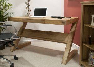 Homestyle Opus Solid Oak Z Style Office Computer Desk
