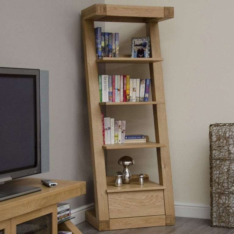 Homestyle Z Solid Oak 1 Drawer Bookcase | Fully Assembled