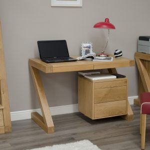 Homestyle Z Solid Oak Large Computer/ Desk | Fully Assembled