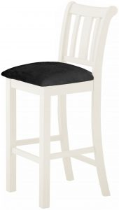 Classic Portland Painted White Bar Stool – white