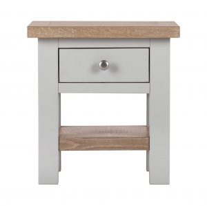 Besp-Oak Vancouver Compact Grey Side Table with 1 Drawer | Fully Assembled