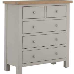 Windermere Moonlight Grey Painted 2 Over 3 Chest   Fully Assembled