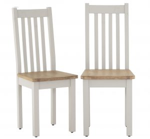 Besp-Oak Vancouver Compact Grey Dining Chair with Timber seat ( Pair ) | Fully Assembled