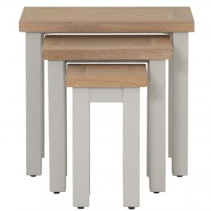Besp-Oak Vancouver Compact Grey Nest of 3 Tables | Fully Assembled