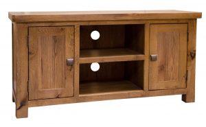 Homestyle Aztec Oak 2 Door TV Cabinet | Fully Assembled