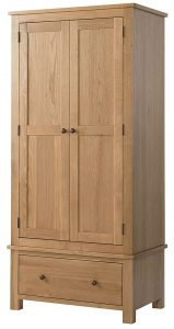 Devonshire Burford Oak Double Wardrobe with 1 Drawer