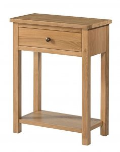 Devonshire Burford Oak 1 Drawer Console Table