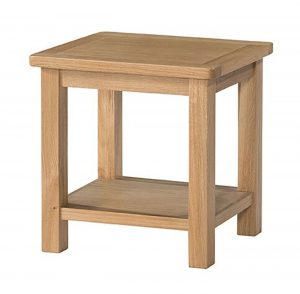 Devonshire Burford Oak Lamp Table with Shelf | Fully Assembled