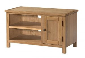 Devonshire Burford Oak Small 1 Door TV Unit | Fully Assembled