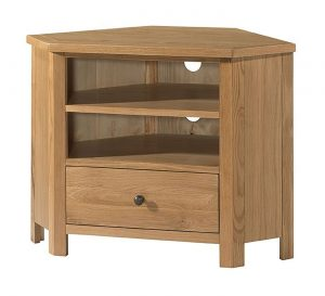 Devonshire Burford Oak Corner TV Unit | Fully Assembled