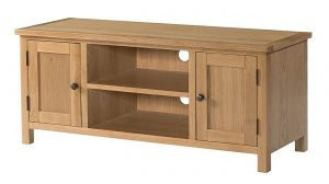 Devonshire Burford Oak 2 Door Large TV Unit | Fully Assembled