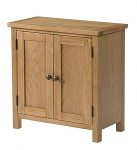 Devonshire Burford Oak Small Sideboard with 2 Doors | Fully Assembled