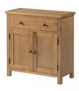 Devonshire Burford Oak Compact Sideboard | Fully Assembled