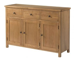 Devonshire Burford Oak 3 Door 3 Drawer Sideboard | Fully Assembled