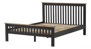 Besp-Oak Vancouver Compact Black Grey 5′ King Size Bed