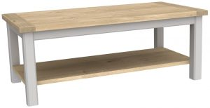 Bretagne Painted Coffee Table With Shelf