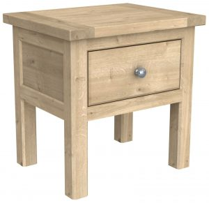 Bretagne Oak Lamp Table With Shelf  | Fully Assembled