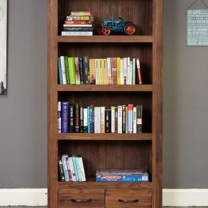 Baumhaus Mayan Walnut Narrow Bookcase
