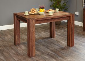 Baumhaus Shiro Solid Walnut Dining Table (4 Seater)