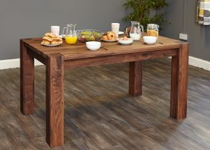 Baumhaus Shiro Solid Walnut Dining Table (4-6 seater)