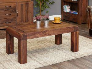 Baumhaus Shiro Solid Walnut Medium Open Coffee Table