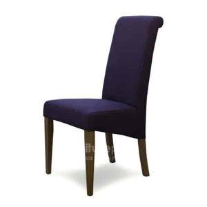 Italia Purple Fabric Dining Chair (Pair)