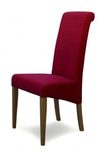 Italia Lipstick Fabric Dining Chair (Pair)