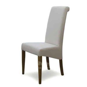 Italia Ivory Fabric Dining Chair (Pair)