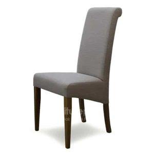 Italia Beige Fabric Dining Chair (Pair)