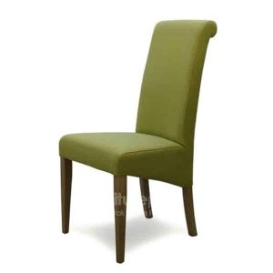 Italia Green Fabric Dining Chair (Pair)