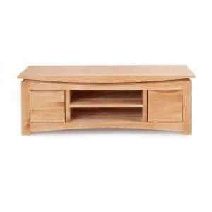 Baumhaus Roscoe Contemporary Oak Widescreen TV Cabinet