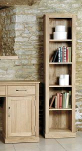 Baumhaus Mobel Oak Narrow Bookcase