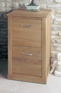 Baumhaus Mobel Oak Two Drawer Filing Cabinet