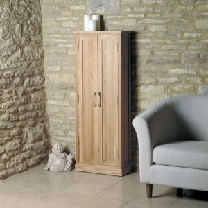 Baumhaus Mobel Oak CD/DVD Storage Cupboard
