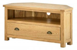 Classic Portland Oak Corner TV Cabinet