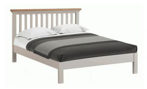 Homestyle Cotswold Grey With Oak Top 5′ King Size Bed
