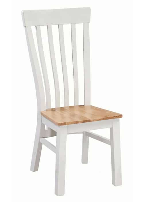 Homestyle Cotswold Grey With Oak Top Solid Seat Dining Chair (Pair)   Fully Assembled