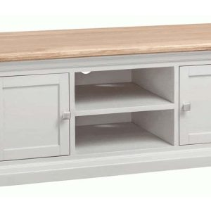 Homestyle Cotswold Grey With Oak Top 3 Door & 3 Drawer Large Sideboard | Fully Assembled