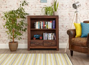 Baumhaus Mayan Walnut Low Bookcase