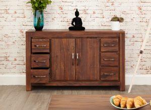 Baumhaus Mayan Walnut Six Drawer Sideboard