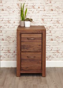 Baumhaus Mayan Walnut 2 Drawer Filing Cabinet