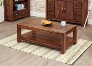 Baumhaus Mayan Walnut Open Coffee Table
