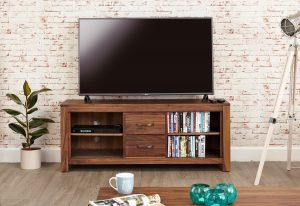 Baumhaus Mayan Walnut Low Widescreen TV Cabinet