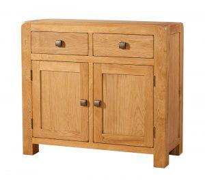 Avon Waxed Oak 2 Door & 2 Drawer Sideboard | Fully Assembled