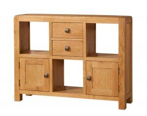 Avon Waxed Oak Low Display Unit | Fully Assembled