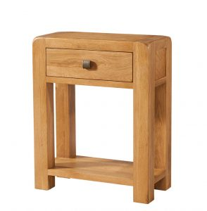 Avon Waxed Oak 1 Drawer Console Table | Fully Assembled