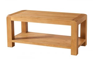 Avon Waxed Oak Coffee Table with Shelf