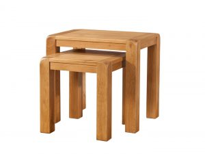 Avon Waxed Oak Nest of Tables | Fully Assembled